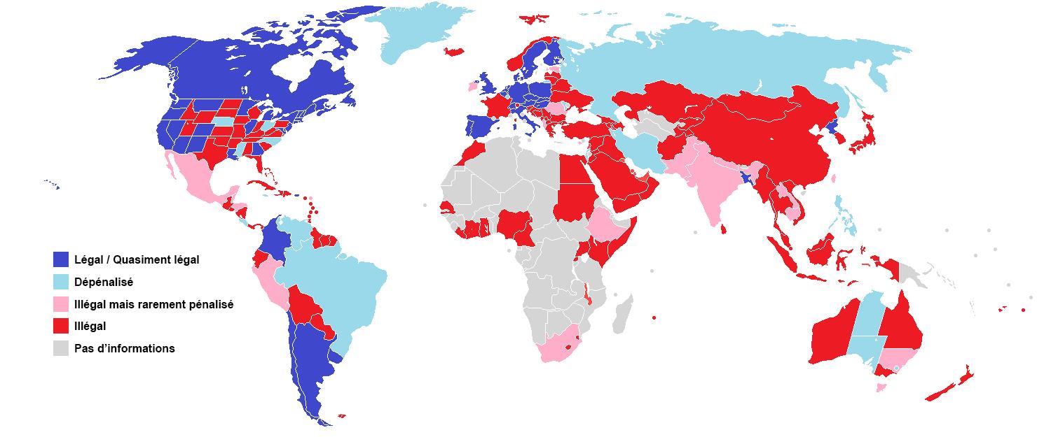 La législation du cannabis dans le monde